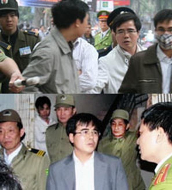 Luật sư Lê Quốc Quân đã nhiều lần bị bắt cũng như hăm doạ vô cớ ngay giữa đường phố