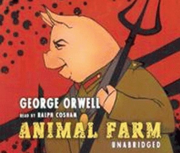 Cuốn Animal Farm của George Orwell được tái xuất bản với nhiều mẫu bìa khác nhau. (Tower/book)
