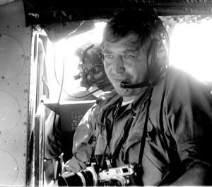 Photo 13--You could cover lots of ground fast when you got a ride in General Olinto Mark Barsanti's helicopter, when he was dropping in on his troops at Camp Eagle and beyond in Vietnam. Barsanti was the commanding general of the 101st Airborne Division, the